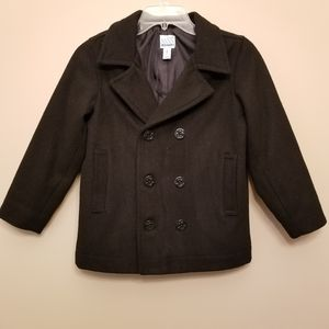 OLD NAVY Boys Black Peacoat
